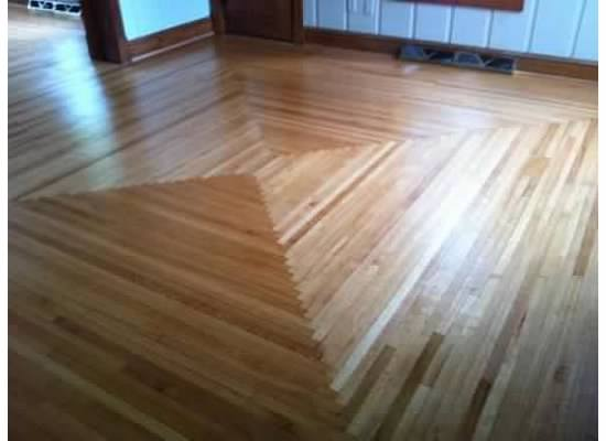 "96 year old farmhouse, 1 1/2"" quartersawn red oak refinished floors."